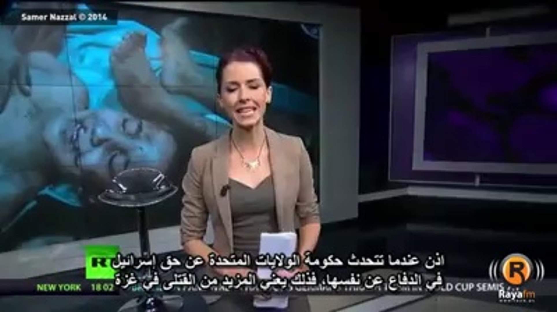 The brave newscaster showing reality of America and Israel