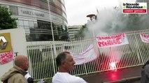 """VIDEO. Les """"pistonniers"""" de Federal Mogul sont montés à Paris"""