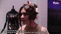 """Exclu Vidéo : Fashion Week HC : La chanteuse Emilie Simon marraine de la nouvelle collection de Franck Sorbier : """"Ces robes sont aux couleurs de mo..."""