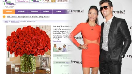 Get Your Lady Back with The Robin Thicke 'Special' Bouquet!