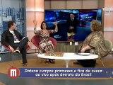TV Gazeta 2014-07-11 Programa Mulheres assunto Datena de cueca
