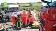 Brutto tamponamento sull'Autostrada A14: sul posto 4 ambulanze e l'elisoccorso