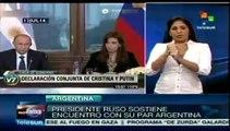 Encuentro bonaerense de Cristina Fernández con Putin, Mujica y Morales