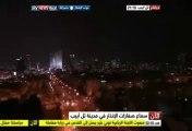 لحظة وصول أول صاروخ لـتل أبيب وانفجاره