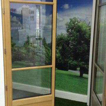 #Porte-fenêtre Mc-France Menuiseries mixte visible dans l'exposition Wilco à Buchelay 78200