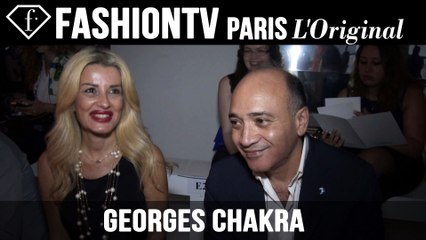 Georges Chakra Couture Front Row | Paris Couture Fashion Week Fall 2014 | FashionTV