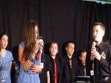 Duo Antoine et Galiane chante pour le groupe Dionysos