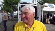 Raymond Poulidor parle de Tony Gallopin qui endosse le maillot jaune le 13 juillet 2014.