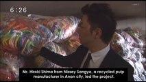 Nisseysangyo & Hiroshima paper cranes