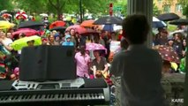 8-Year-Old Boy Holds Free Concert, Becomes Internet Famous