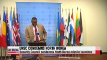 Security Council condemns North Korea missile launches