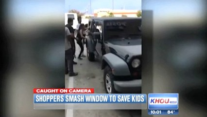 People Smash Window To Save Kids Left In Hot Car While Mom Gets A Hair Cut
