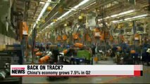 Chinese economy grows 7.5p in Q2