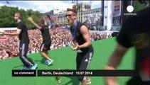 German football team celebrates World Cup victory
