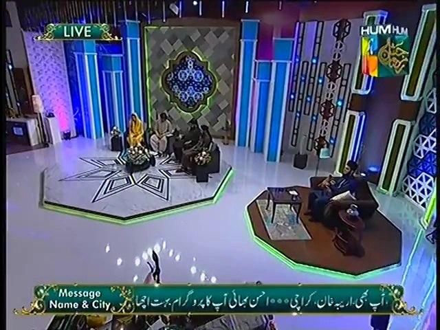 "Tehreem Muniba reciting Naat in Jashn e Ramazan HUM TV Show ""16 July 2014"""
