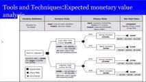 PMP® Exam Prep Online, PMP Tutorial 38   Planning Process Group   Perform Quantitative Risk Analysis   Quantitative Risk Analysis and Modeling Techniques   Expected monetary value analysis