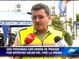 Prisión preventiva para dos personas tras operativo antidrogas en Santa Elena