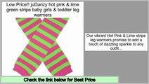 Online Shopping juDanzy hot pink & lime green stripe baby girls & toddler leg warmers