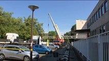 France 3 Alsace : démontage d'une antenne parabolique à plus de 100 mètres de hauteur
