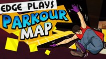 CAVE PARKOUR! (Minecraft Smart Moving Mod Map) w/ Bodil40
