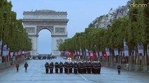 Répétition du défilé du 14 juillet 2014 sur les Champs Elysées