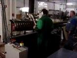 Palettisation de rangées de bouteilles