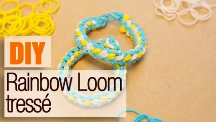 Bracelet élastique tressé Rainbow Loom - DIY bijou