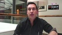 """Exclu vidéo : Denny Imbroisi de Top Chef : """"Je vous donne ma recette du saumon grillé à l'oseille, aux asperges vertes et à la sauce fumée !"""""""