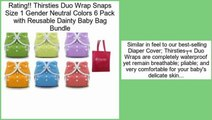 Comparison Thirsties Duo Wrap Snaps Size 1 Gender Neutral Colors 6 Pack with Reusable Dainty Baby Bag Bundle