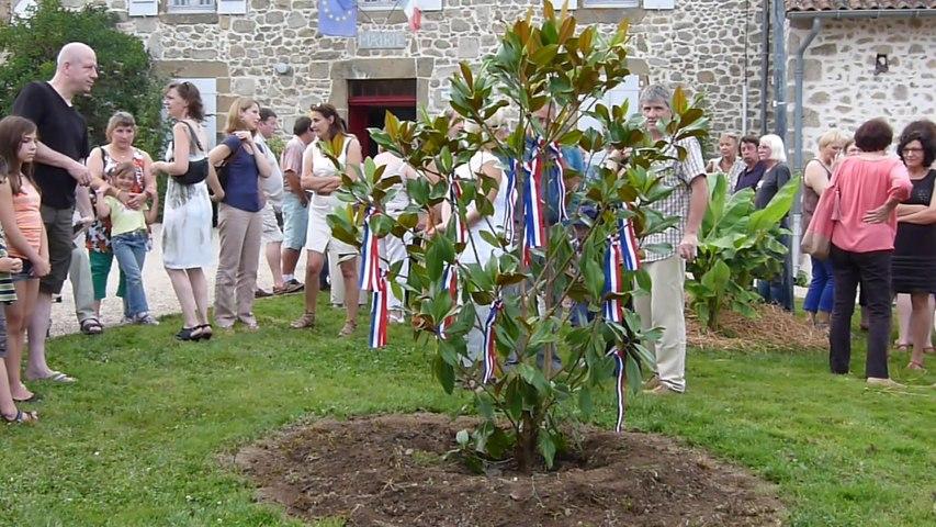 Plantation du mai à Saint-Estèphe le 19 juillet 2014