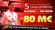 Gareth Bale, Neymar, James Rodriguez... Le top 10 des transferts les plus chers de l'histoire !
