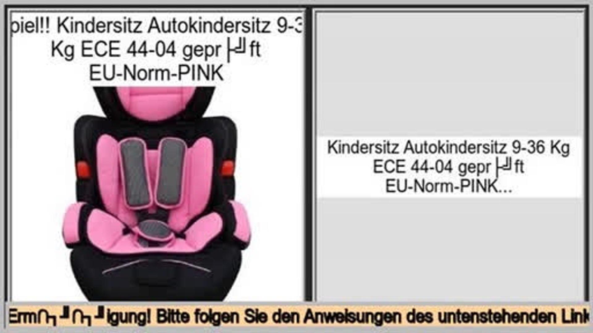 I//II//III 9-36kg ECE 44//04 Gio Plus Autokindersitz Kindersitz schwarz Gr