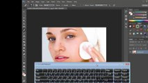 Adobe Photoshop beginners tutorial part 5 - Color selection and Healing brush tools