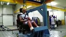 Centre Essai Dynamique : vidéo d'essai de la catapulte