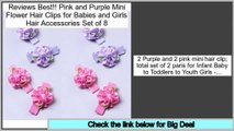 Daily Deal Pink and Purple Mini Flower Hair Clips for Babies and Girls Hair Accessories Set of 8