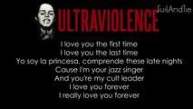 Lana del Rey -  Ultraviolence  ( Lyrics Video )