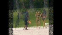 Kim Kardashian enjoys family day at the beach with husband Kanye West and baby North in Mexico (HD)