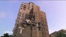 En images : dans les rues devastées de Gaza après une nuit de bombardements