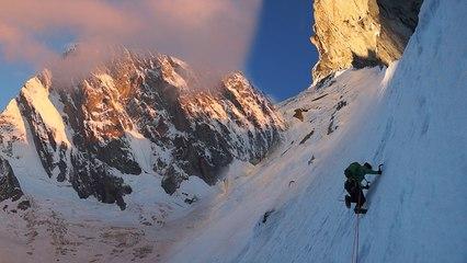 Petite McIntyre Grandes Jorasses Face Nord Chamonix Mont-Blanc massif