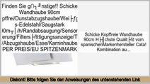 Wertung Schicke Wandhaube 90cm kopffrei/Dunstabzugshaube/Weißglas-Edelstahl/Saugstark 790m³/h/Randabsaugung/Sensorsteuerung/Filtersättigungsanzeige/Timer/Abzugshaube/Esse/Kaminhaube/SUPER PREIS/EU SPITZENMARKE
