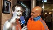 Freddie Mercury Prateado Beijo na boca Amin Kader