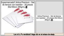 Las mejores ofertas de Artina Premium - Set de lienzos con bastidor - 20 piezas 60x160cm 380g/m²