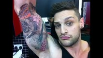 LEX Vs TATTOO SLEEVE! Pt.7 - NEW Floral Work, V-Log, Live Tattooing (Inked Aesthetics)