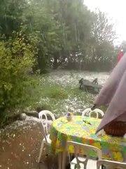Témoins BFMTV : Orages et grêle à Issoudun (36)