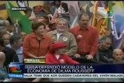 Lula hace proselitismo a favor de Dilma Rousseff y la defiende