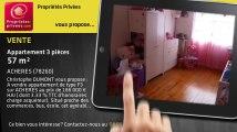 A vendre - appartement - ACHERES (78260) - 3 pièces - 57m²