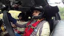 A bord de la Citroën DS3 WRC de Jean-Michel Da Cunha