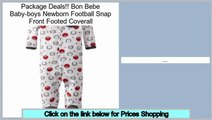 Best Value Bon Bebe Baby-boys Newborn Football Snap Front Footed Coverall