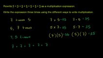 Dev Math 20 - Multiplying Whole Numbers and Applications 1 مکمل اعداد ضرب استعمال