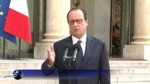 """Hollande: """"Tous les moyens mis en oeuvre"""" pour retrouver l'avion"""